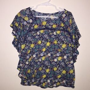 Old Navy floral top worn once